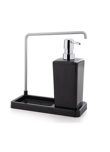 Primanova Luna Süngerlikli Askılı Mutfak Sıvı Sabunluk Dispenser Siyah Siyah